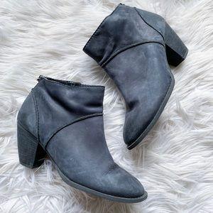 Tesori Kinsley Genuine Leather Heeled Ankle Bootie